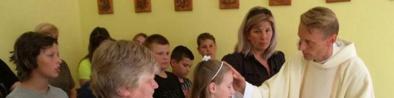 Prvý krst v našej školskej kaplnke