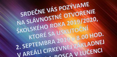 Slávnostné otvorenie školského roka 2019/2020